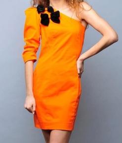 Hot orange dress