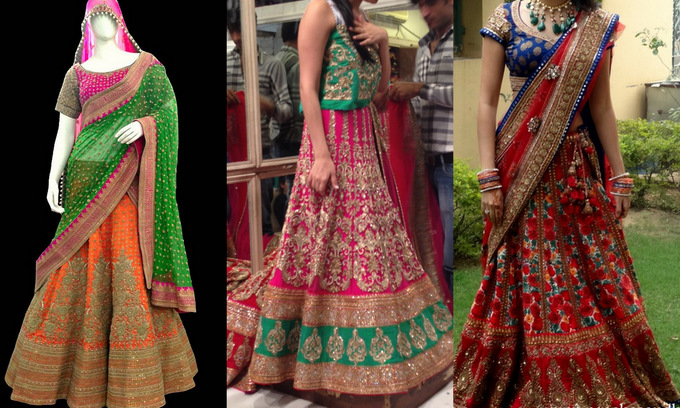 P&B Brides outfits (the bottom right image is of Mehak's own wedding lehenga)