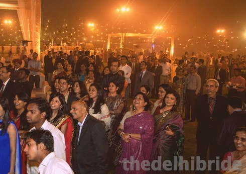 Crowd enjoying the on-stage war