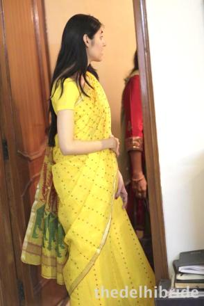 Full length pic of the taint sari