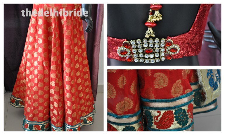 A chanderi lehenga for the sister of a groom
