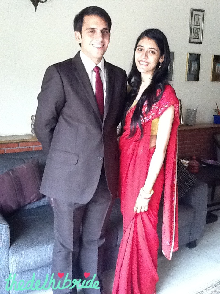 It's evident that the sari was draped by me, the novice!