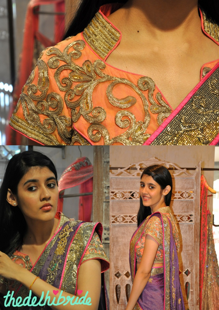 Details of the lehenga. Absolutely love the blouse.