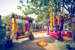 Elements mehendi decor swing 2 Sahiba wedding Photo Tantra