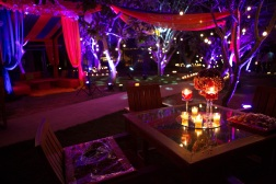 Elements sangeet decor table lighting Sahiba wedding Photo Tantra