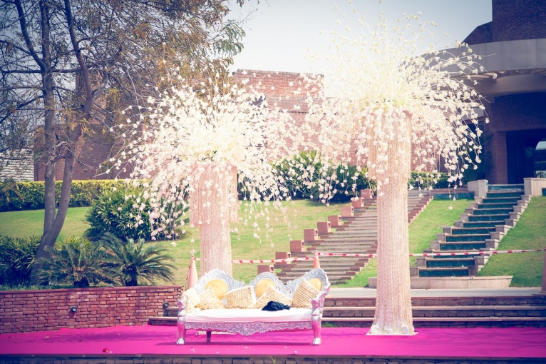 Elements wedding decor stage Sahiba wedding Photo Tantra