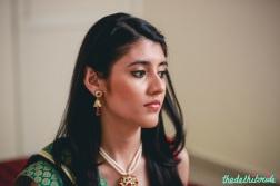 Sangeet makeup indoors