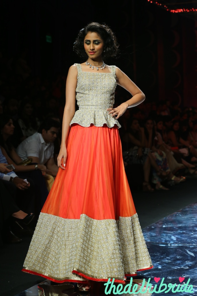 At the India Bridal Fashion Week - Model seen in Jyotsna Tiwari Collection 4