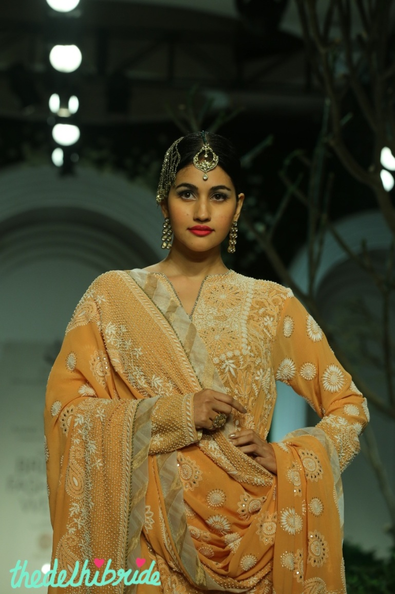 At the India Bridal Fashion Week - Models in Meera Muzaffar Ali 3