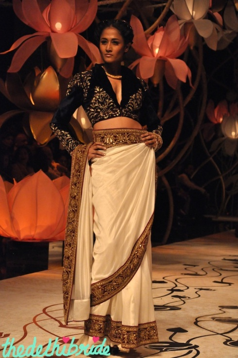 I liked the sari and the blouse!
