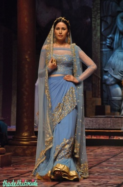I want something in this shade of blue! Not such a common colour in Indian wear.