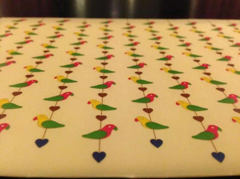 Kitsch wedding invite envelope colourful