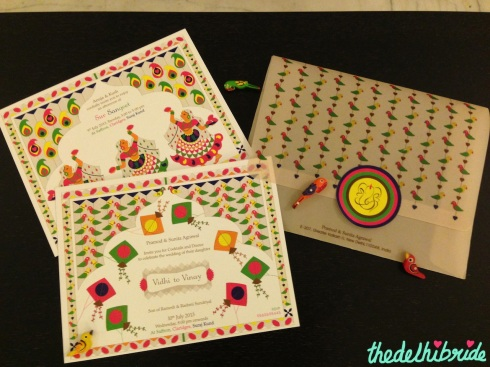 All the elements of the unique Indian wedding card