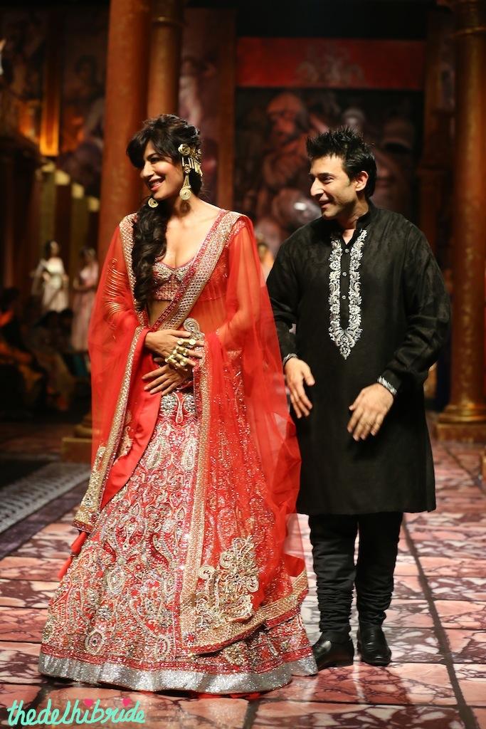 India Bridal Fashion Week Delhi 2013 - Chitrangada Singh as the showstopper for Suneet Varma's Collection