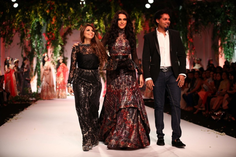 India Bridal Fashion Week Delhi 2013 - Falguni & Shane with Neha Dhupia