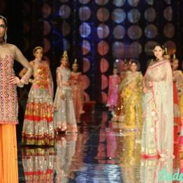 India Bridal Fashion Week -Models in Rina Dhaka Collection