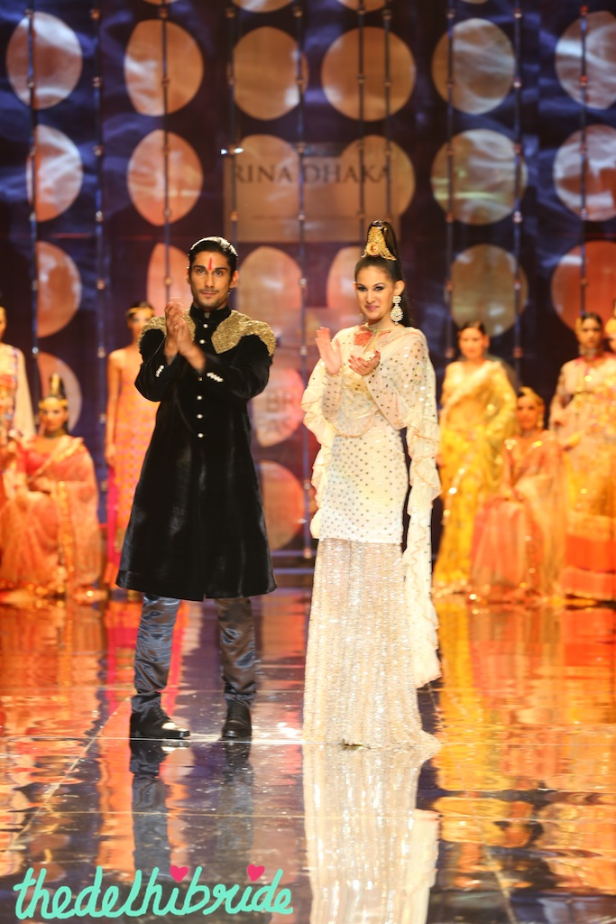 India Bridal Fashion Week - Prateek Babar and Amyra as the showstoppers for Rina Dhaka Collection 1