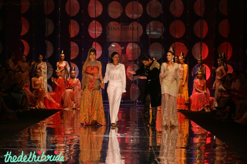 India Bridal Fashion Week -Sophie Choudhary, Prateek Babar and Amyra as the showstoppers for Rina Dhaka Collection