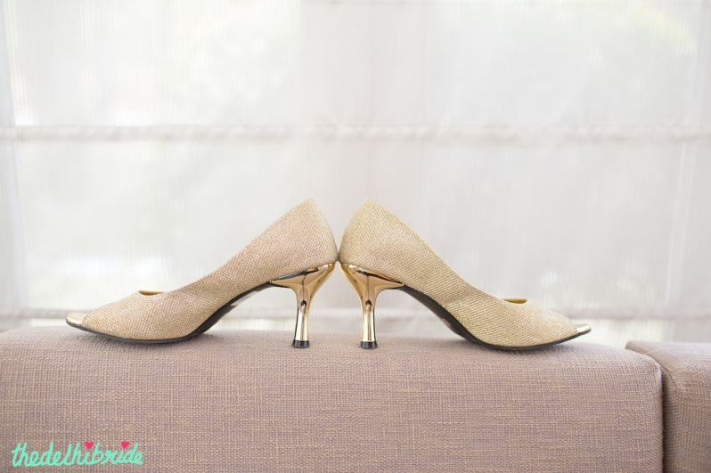 Ta-da! The golden version of my wedding shoes. Image courtesy: Photo Tantra