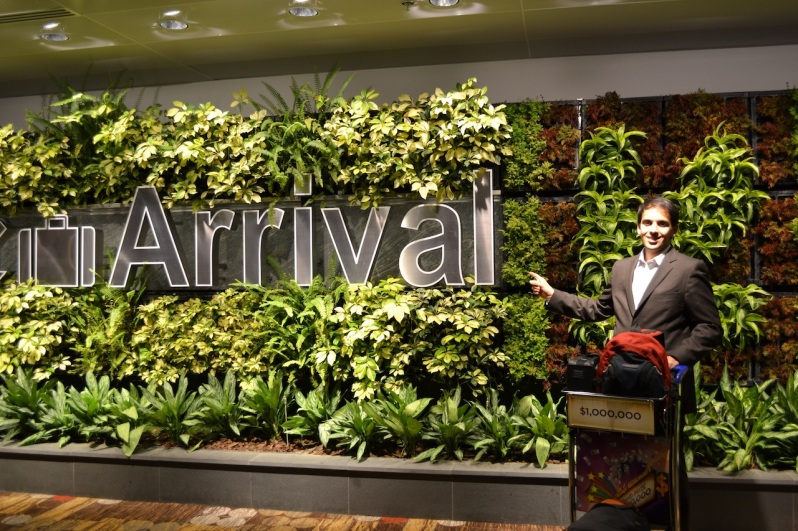 We've arrived! @Changi Airport