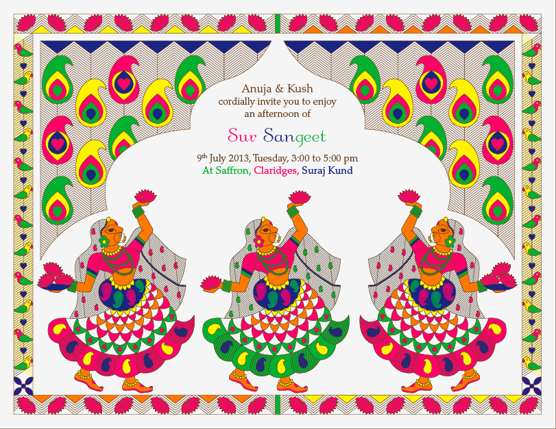 Sangeet e invite – An Indian Wedding Blog