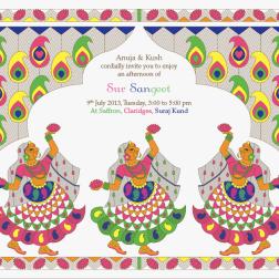 Sangeet e invite