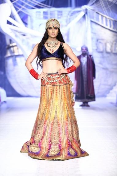 Seen at India Bridal Fashion Week Delhi 2013 - Kangana Ranaut as the showstopper JJ Valaya's Opening Show - Maharaja of Madrid