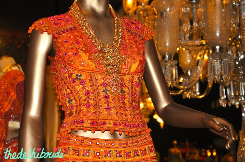 I quite liked the vibrant hues on this choli