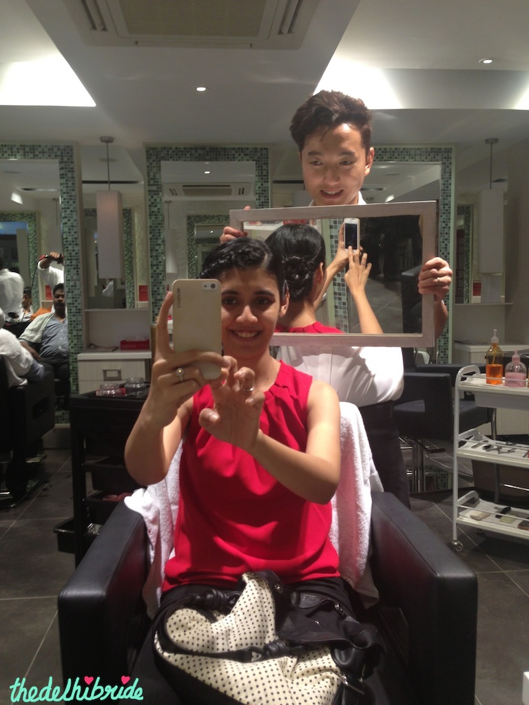 Ugen sets my hair at Monsoon Salon, South Ex