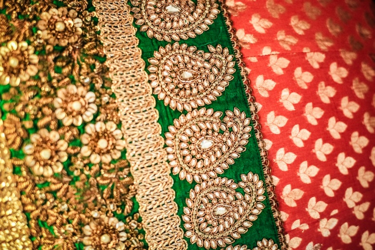 embroidery details prathna best wedding lehenga 2012