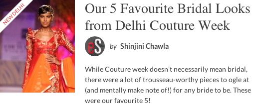 eStylista Top 5 Looks from Delhi Couture Week