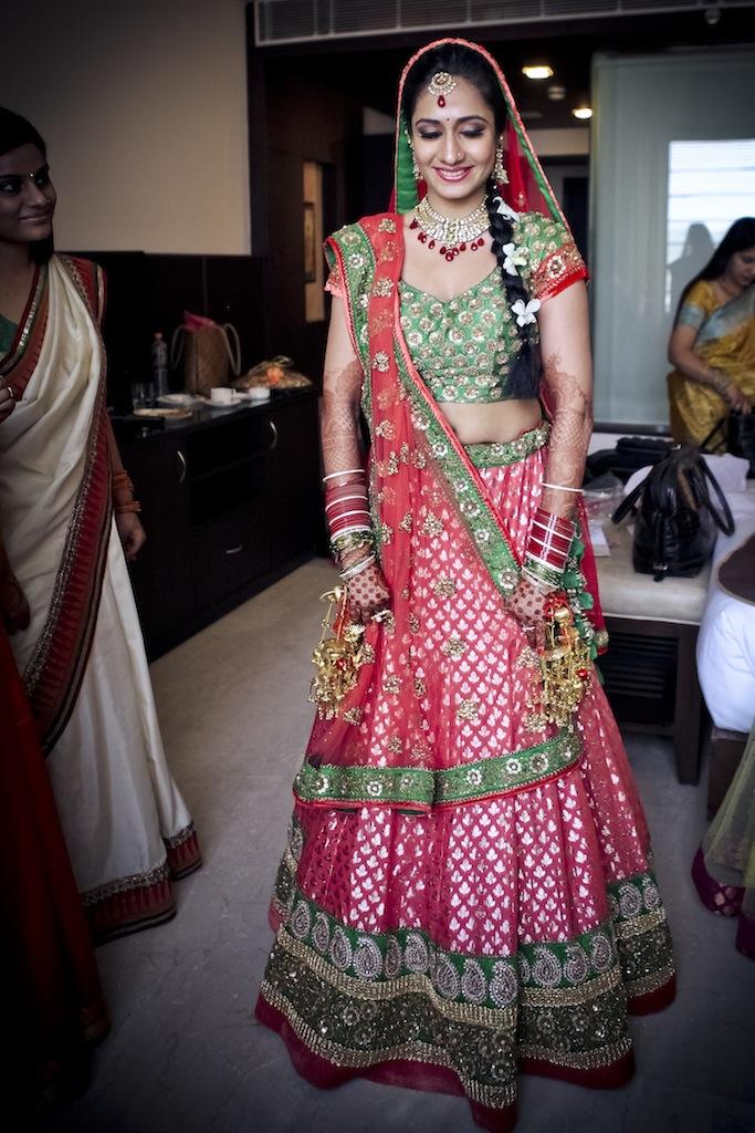 full length view prathna best wedding lehenga 2012