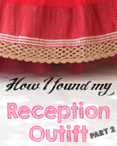 how i found my Indian wedding reception outfit jacket lehenga rakhi & vandana