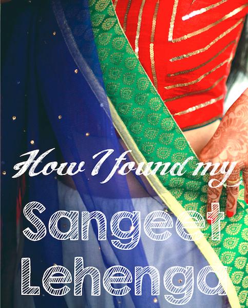 how i found my Indian wedding sangeet lehenga aumbre