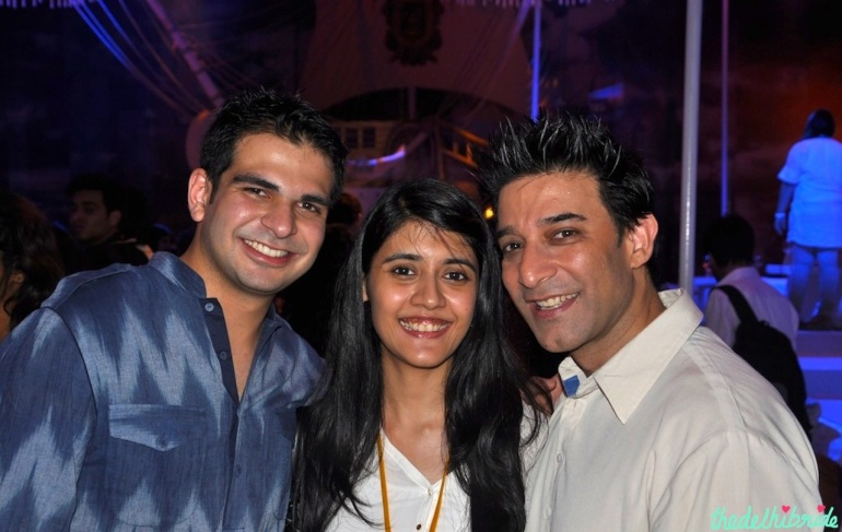 (L-R) My husband's friend, me, Suneet Varma