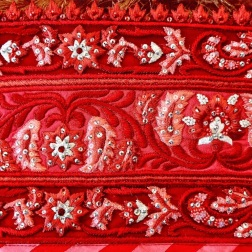 Reception lehenga embroidery details