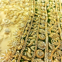 Sangeet anarkali border embroidery details