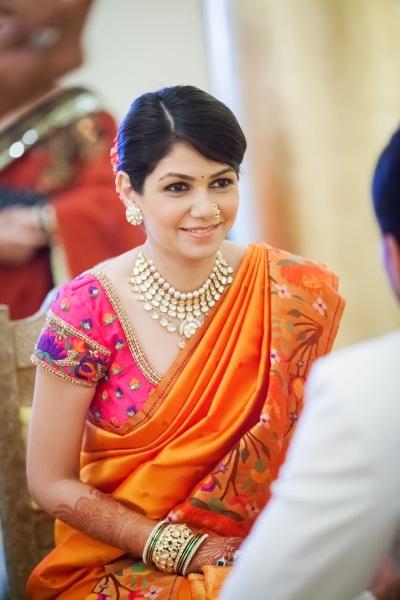Wedding sari front