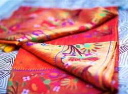 Wedding sari outfit photography close up