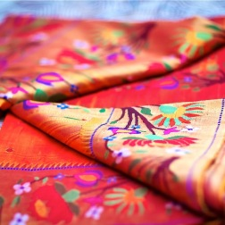 Wedding sari outfit photography close up