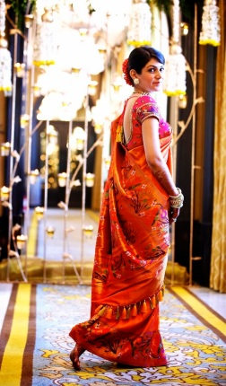 Wedding sari side full length