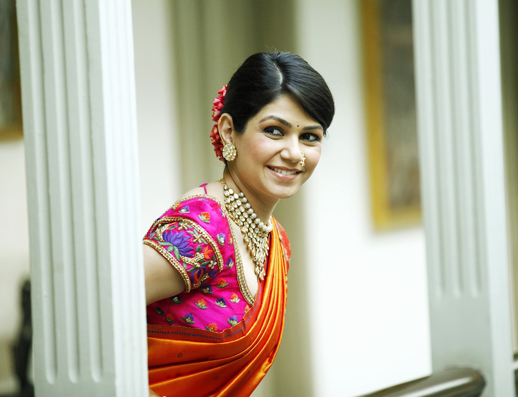 thedelhibride Indian Weddings blog  sari - Hairstyle For Halter Dress