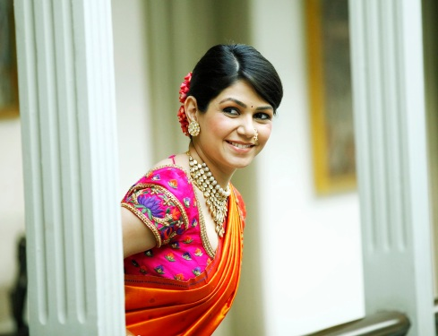 Wedding sari side