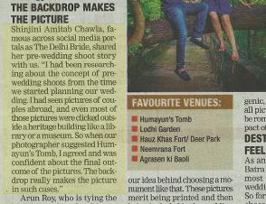 Delhi Times 2013 Nov Shinjini Amitabh Chawla thedelhibride snapshot