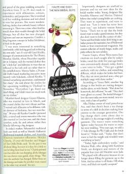 Harper's Bazaar page 2 Shinjini Amitabh Chawla thedelhibride