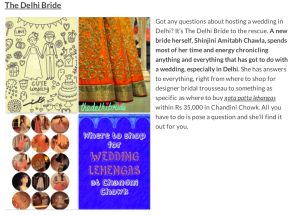The Great Indian Wedding Blogs Shinjini Amitabh Chawla thedelhibride