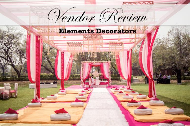 vendor review elements decorator sahiba wedding