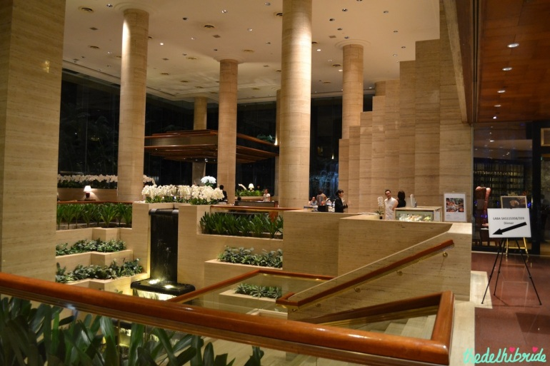 Part of the Shangri-La Hotel's lobby