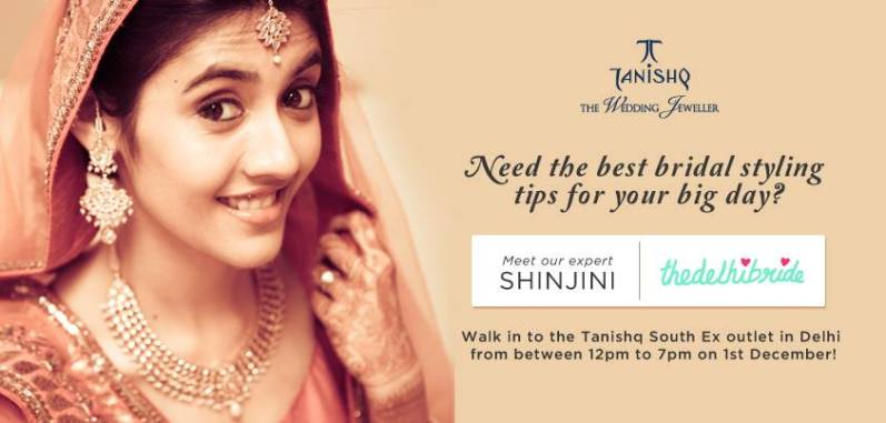 bridal styling by Shinjini thedelhibride for Tanishq