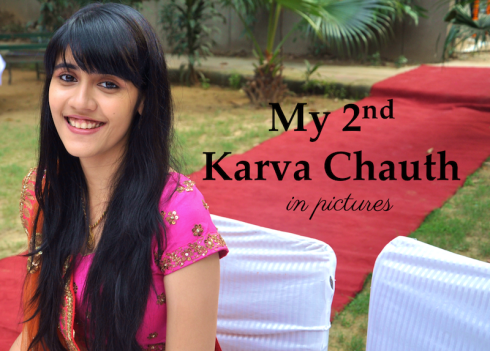 My second karva chauth re use wedding lehenga